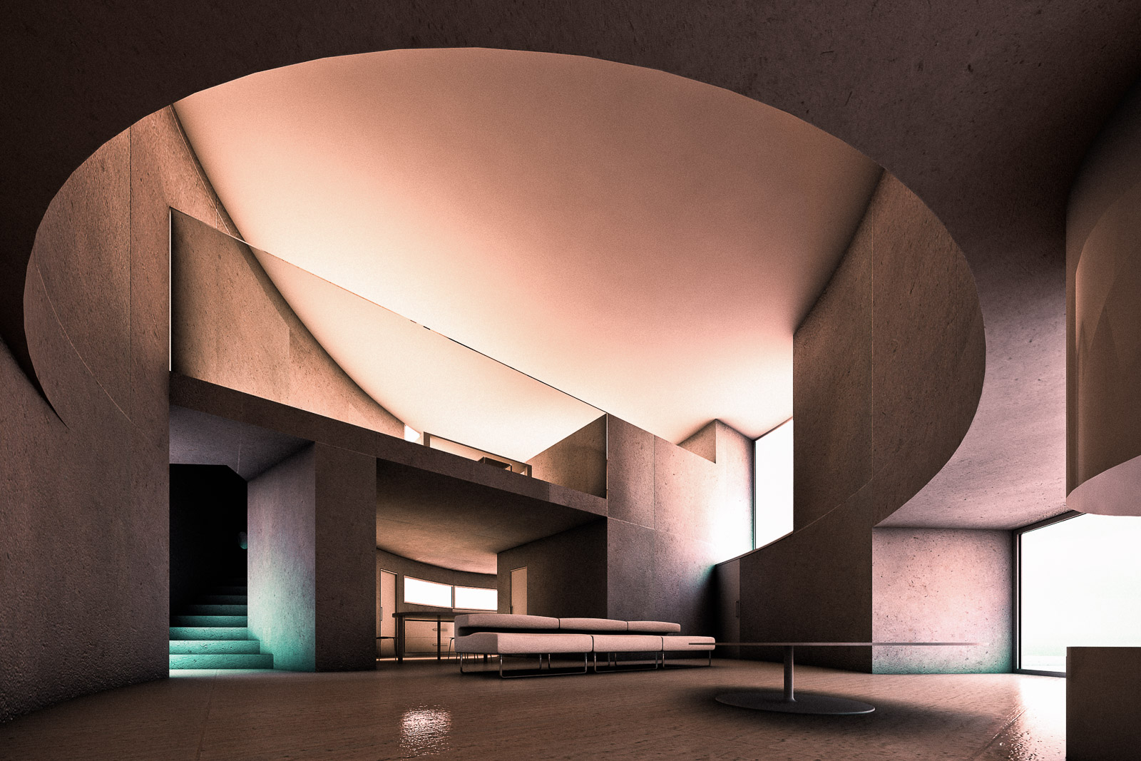 Antonino Cardillo, Ellipse 1501 House, Rome, 2007. CGI: Antonino Cardillo