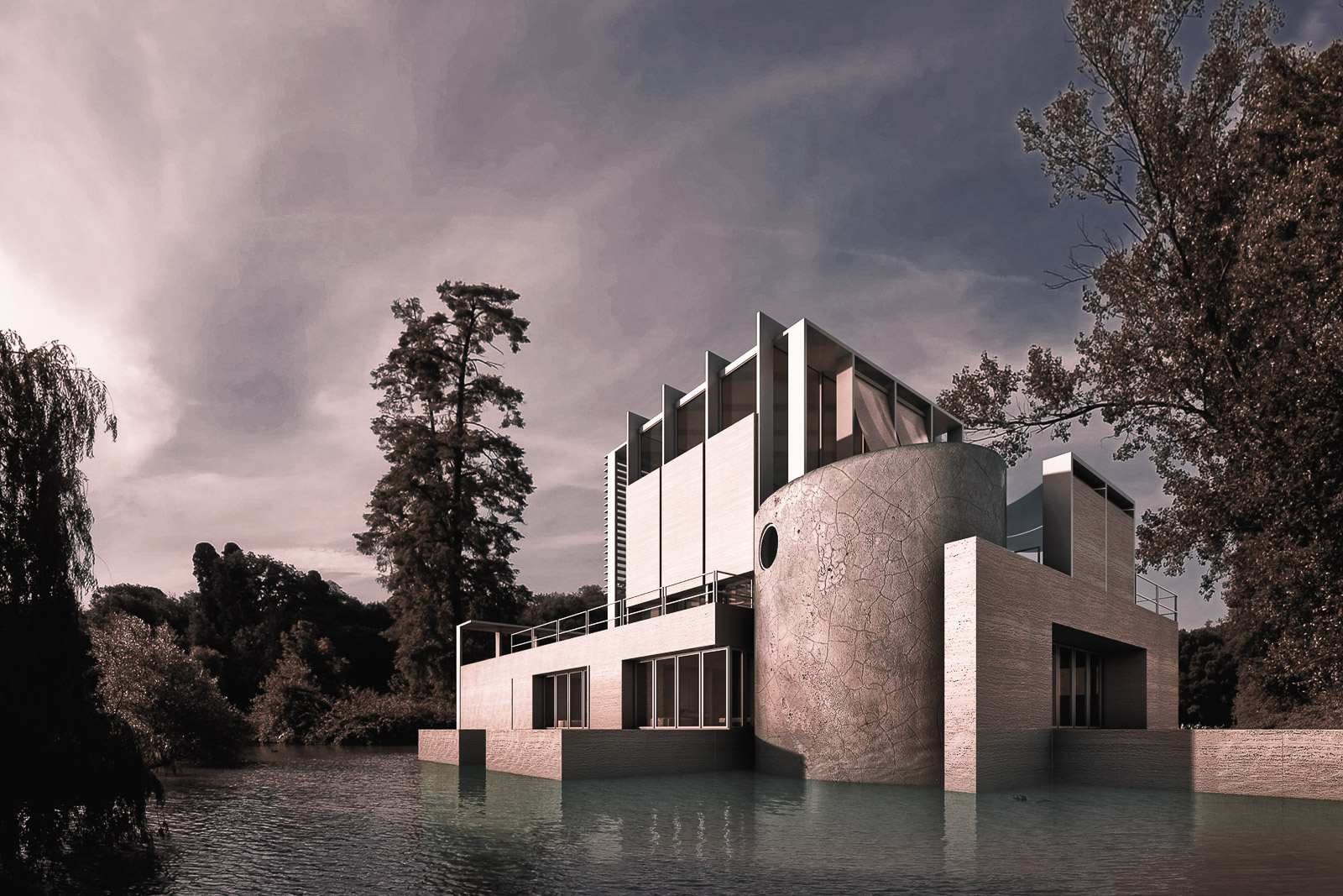 Antonino Cardillo, Max's House in a Small Lake, Nimes, 2008. CGI: Antonino Cardillo