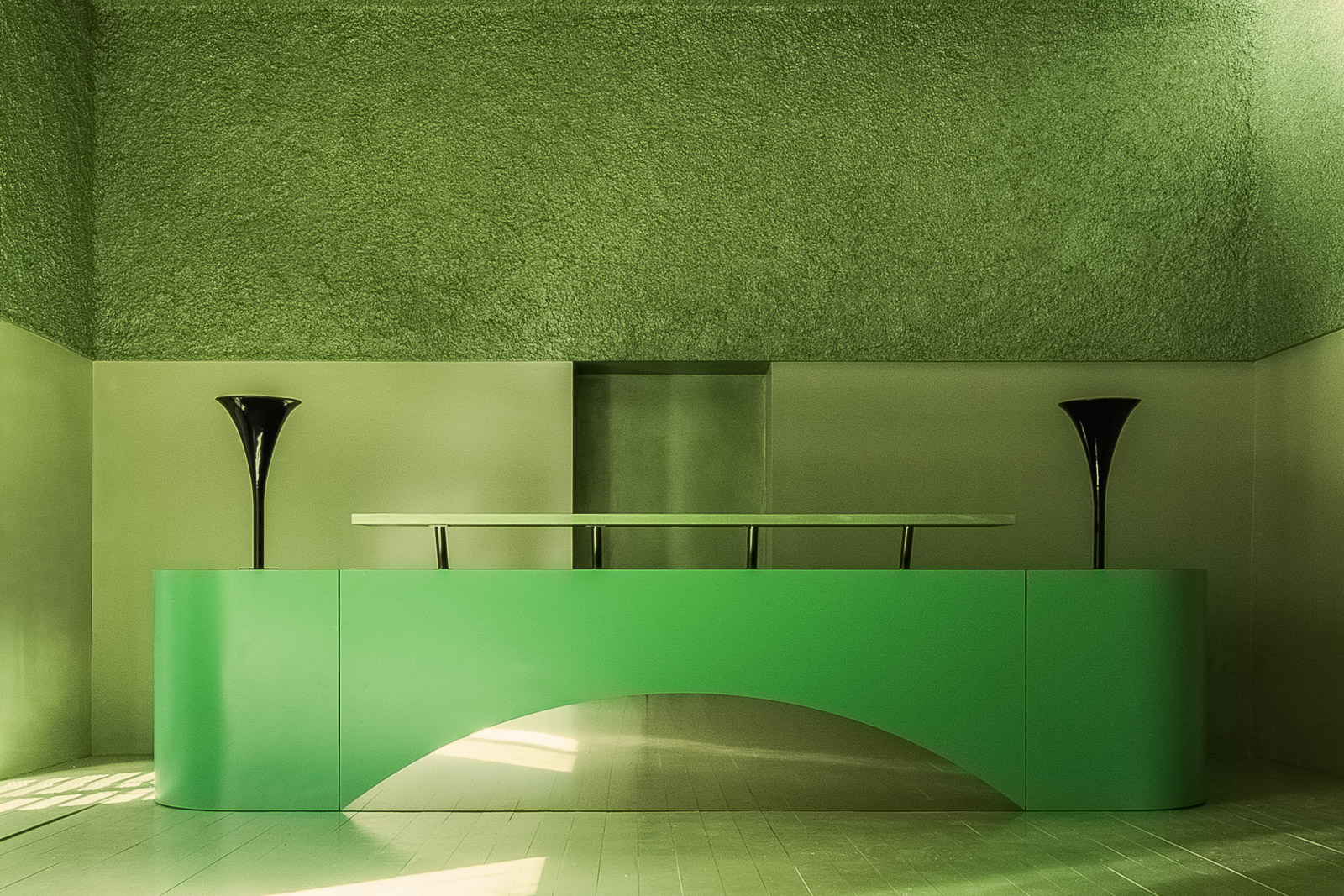 Antonino Cardillo, Crepuscular Green, Rome 2014. Photography by Antonino Cardillo.